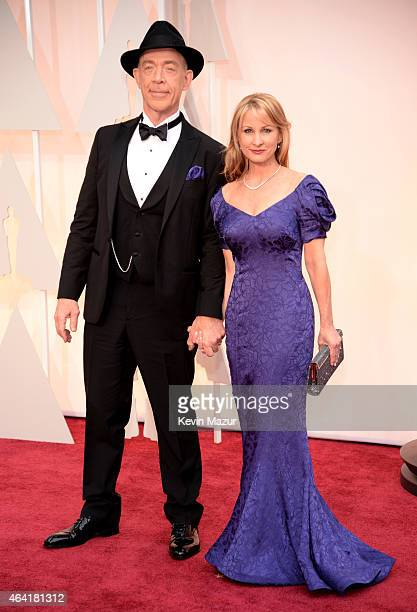 K Simmons and Michelle Schumacher attend the 87th Annual Academy Awards at Hollywood Highland Center on February 22 2015 in Hollywood California