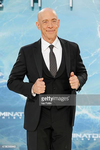 J K Simmons attends the European Premiere of 'Terminator Genisys' at the CineStar Sony Center on June 21 2015 in Berlin Germany
