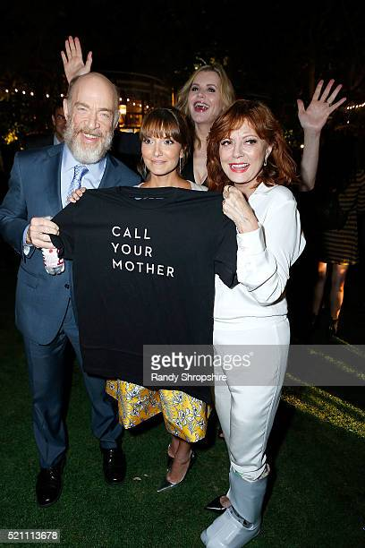 K Simmons Lorene Scafaria Geena Davis and Susan Sarandon attend Sony Pictures Classics Los Angeles premiere of The Meddler after party at Pacific...