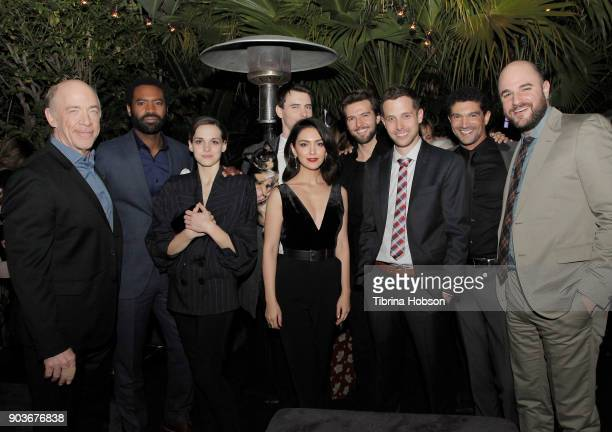J K Simmons Nicholas Pinnock Sara Serraiocco Nazanin Boniadi Harry Lloyd Guy Burnet Justin Marks Mido Hamada and Jordan Horowitz attend the premiere...