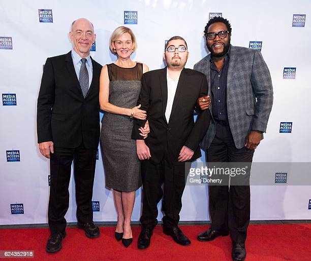 Simmons, Penelope Anne Miller, Anthony Conti and Chad Coleman arrive for the 2016 Media Access Awards at Four Seasons Hotel Los Angeles at Beverly...