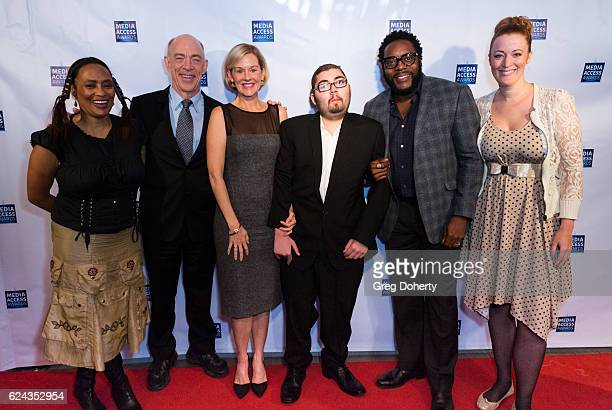 Simmons, Penelope Anne Miller, Anthony Conti, Chad Coleman and Adele René arrive for the 2016 Media Access Awards at Four Seasons Hotel Los Angeles...