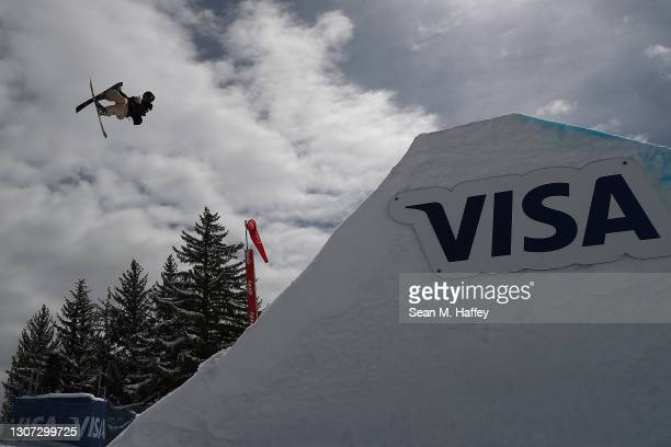 Simo Peltola of Finland competes in the men's freeski big air qualifications during Day 6 of the Aspen 2021 FIS Snowboard and Freeski World...