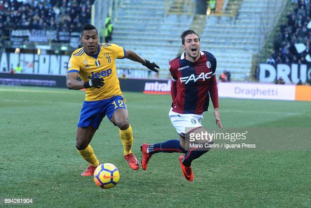 Simoine Verdi of Bologna FC reacts during the Serie A match between Bologna FC and Juventus at Stadio Renato Dall'Ara on December 17 2017 in Bologna...