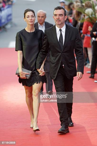 Simon Aboud and Mary Anna McCartney attend closing ceremony of 27th Dinard British Film Festival on October 1 2016 in Dinard France