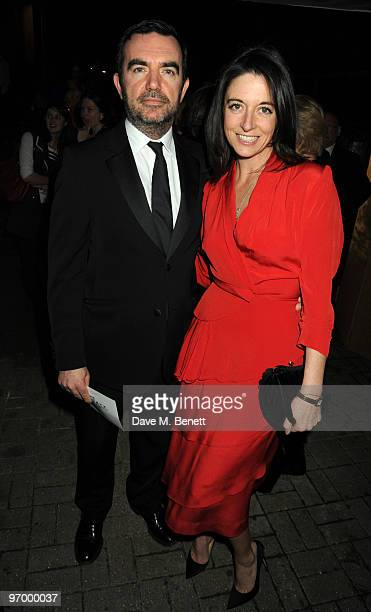 Simon Aboud and Mary McCartney attend the Love Ball London at the Roundhouse on February 23 2010 in London England