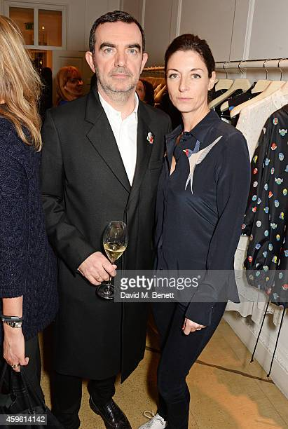 Simon Aboud and Mary McCartney attend the Stella McCartney Christmas Lights Switch On at the Stella McCartney Bruton Street Store on November 26 2014...