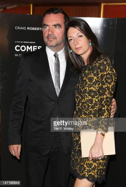 Simon Aboud and Mary McCartney attend the UK Premiere of 'Comes A Bright Day' at The Curzon Mayfair on June 26 2012 in London England