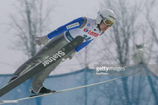 Simon Ammann competes during FIS Ski Jumping World Cup 20182019 Men's HS134 on November 18 2018 in Wisla Poland