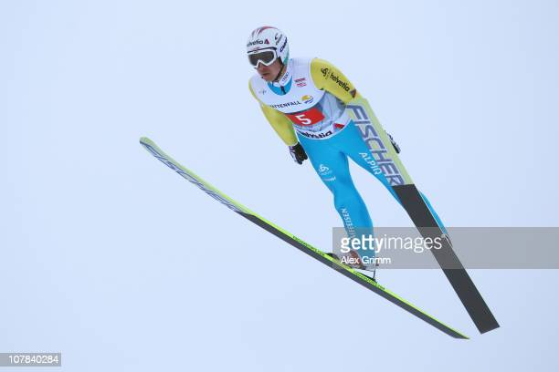 ARY 01 UARY 01 Simon Ammann of Switzerland competes during the trial round for the FIS Ski Jumping World Cup event at the 59th Four Hills ski jumping...