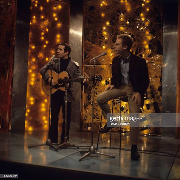 Simon and Garfunkel perform on a television show filmed in London England in 1967
