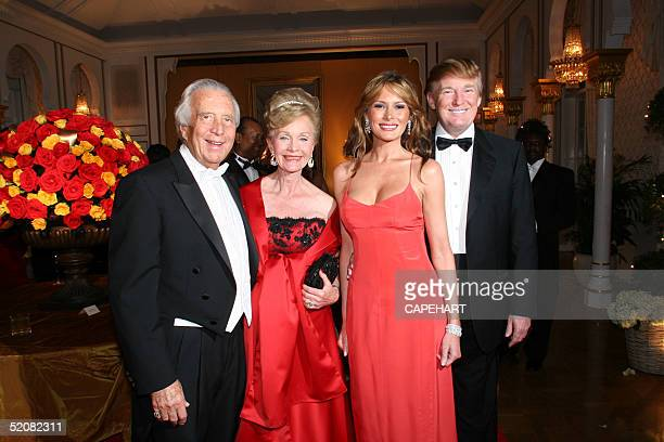 Simon and Norma Fireman Melania and Donald Trump attend the International Red Cross Ball at MarALago January 29 2005 in Palm Beach Florida