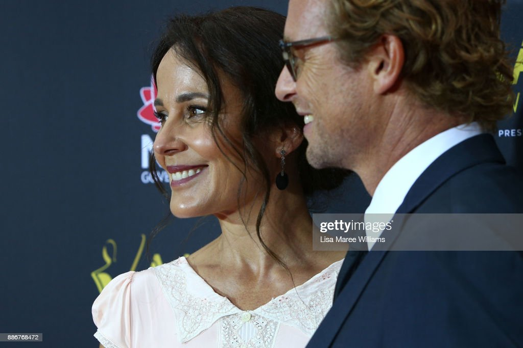 Simon Baker and Rebecca Rigg attends the 7th AACTA Awards