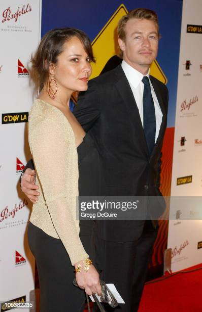 Simon Baker and Rebecca Riggs during 2nd Annual Penfolds Gala Black Tie Dinner Arrivals at Century Plaza Hotel in Century City California United...