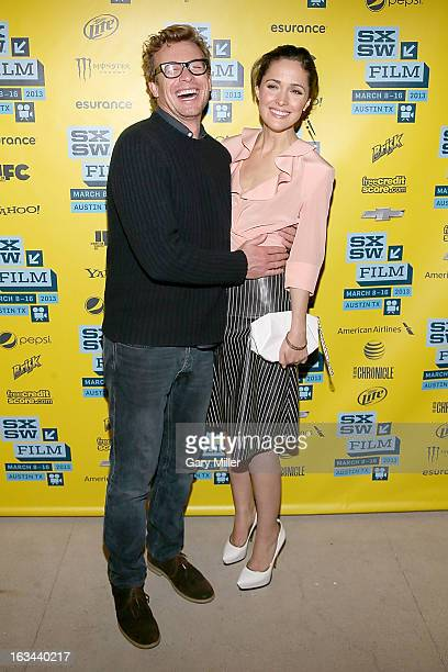 Simon Baker and Rose Byrne on the red carpet for the premiere of the new film 'I Give It A Year' at the Topfer Theater during the 2013 SXSW Music...