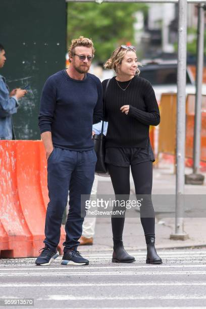 Simon Baker and Stella Breeze Baker are seen in NoHo on May 18 2018 in New York City