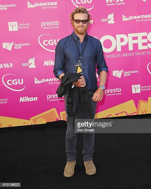 Simon Baker arrives ahead of Tropfest 2016 at Centennial Park on February 14 2016 in Sydney Australia