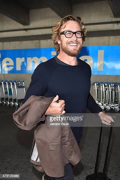 Simon Baker arrives at Nice Airport during the 68th annual Cannes Film Festival on May 13 2015 in Cannes France