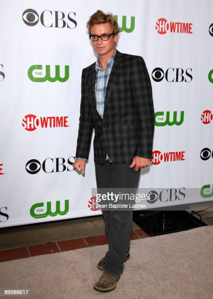 Simon Baker arrives at the 2009 TCA Summer Tour CBS CW and Showtime AllStar Party at the Huntington Library on August 3 2009 in Pasadena California