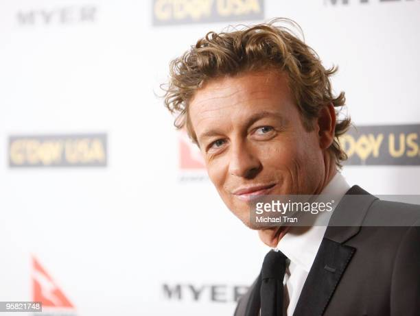 Simon Baker arrives to the 2010 Australia Week Black Tie Gala held at the Grand Ballroom at Hollywood Highland Center on January 16 2010 in Hollywood...