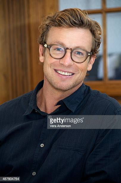 Simon Baker at 'The Mentalist' Press Conference on October 24 2014 in West Hollywood California