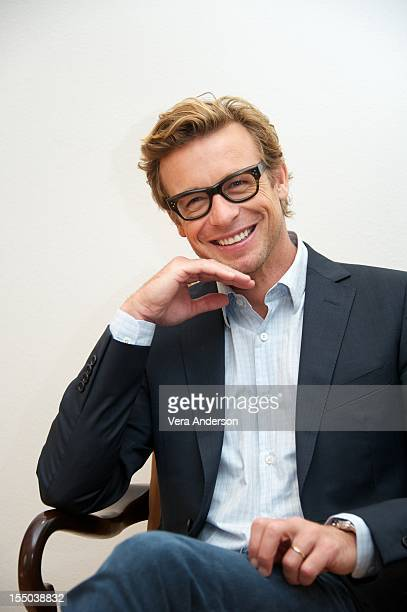 "Simon Baker at ""The Mentalist"" Press Conference on October 29, 2012 in West Hollywood, California."