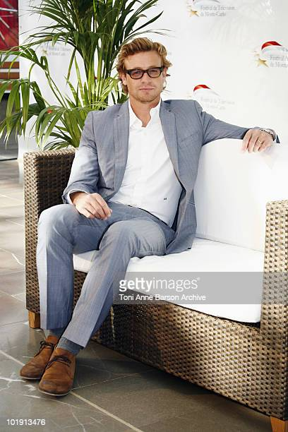 Simon Baker attends a photocall during the 50th Monte Carlo TV Festival at the Grimaldi Forum on June 9, 2010 in Monte-Carlo, Monaco.