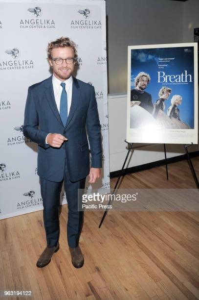 Simon Baker attends special screening of Breath hosted by DeborraLee Furness and Hugh Jackman at Angelika Film Center
