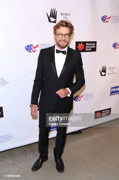 Simon Baker attends the 2019 American Australian Arts Awards at Skylight Modern on January 31, 2019 in New York City.