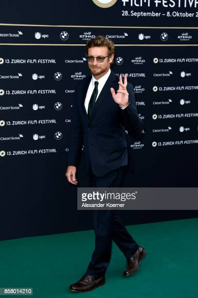 Simon Baker attends the 'Breath' premiere at the 13th Zurich Film Festival on October 5 2017 in Zurich Switzerland The Zurich Film Festival 2017 will...
