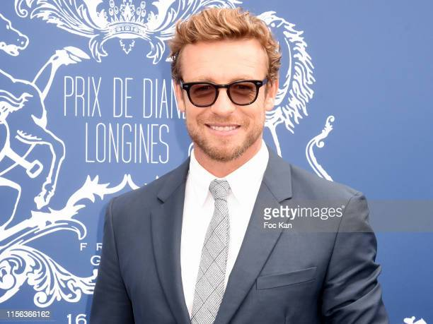 Simon Baker attends the Prix De Diane 2019 at hippodrome de Chantilly on June 16 2019 in Chantilly France