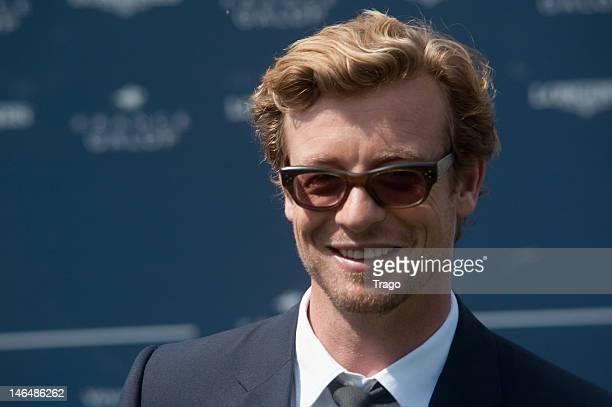 Simon Baker attends the Prix De Diane Longines at Hippodrome de Chantilly on June 17 2012 in Chantilly France