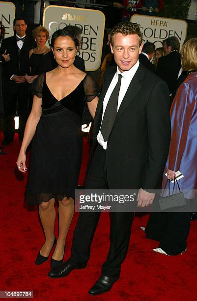 Simon Baker during The 60th Annual Golden Globe Awards Arrivals at The Beverly Hilton Hotel in Beverly Hills California United States