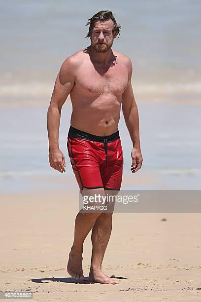 Simon Baker enjoys a dip in Sydney on February 1 2015 in Sydney Australia