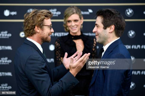 Simon Baker Festival directors Nadja Schildknecht and Karl Spoerri attend the 'Breath' premiere at the 13th Zurich Film Festival on October 5 2017 in...
