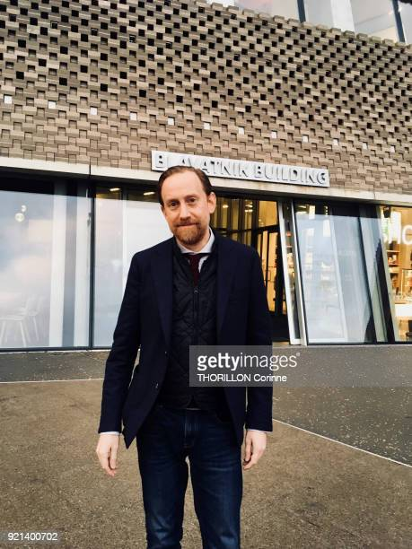 Simon Baker former director of the Tate Modern Gallery of London and new director of the Maison Europeenne de la Photographie in Paris posed for...
