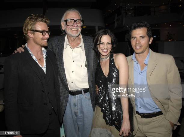 Simon Baker George A Romero Director of 'Land of The Dead' Asia Argento and John Leguizamo