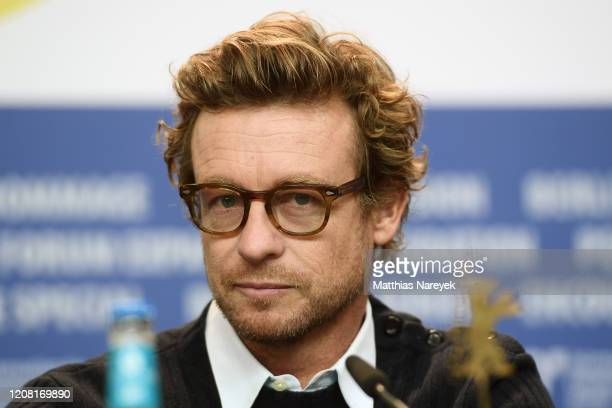 "Simon Baker is seen at the ""High Ground"" press conference during the 70th Berlinale International Film Festival Berlin at Grand Hyatt Hotel on..."
