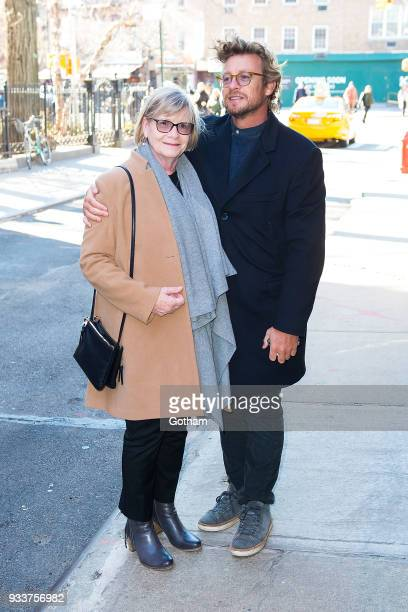 Simon Baker is seen in the West Village on March 18 2018 in New York City