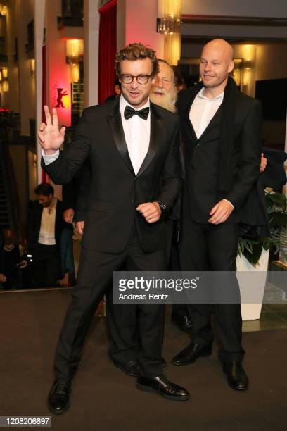 """Simon Baker; Jack Thompson and Bill Thompson arrive for the """"High Ground"""" premiere during the 70th Berlinale International Film Festival Berlin at..."""