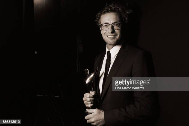 Simon Baker poses backstage during the 7th AACTA Awards Presented by Foxtel at The Star on December 6 2017 in Sydney Australia
