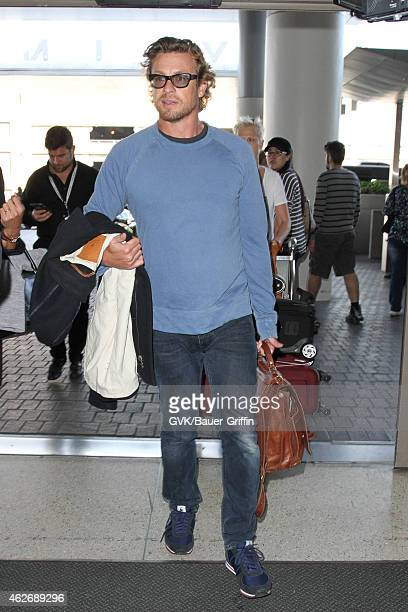 Simon Baker seen at LAX on February 02 2015 in Los Angeles California