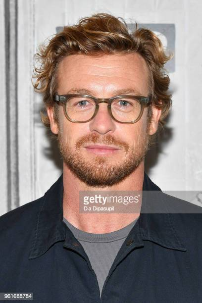 Simon Baker visits the Build Series to discuss 'Breath' at Build Studio on May 23, 2018 in New York City.