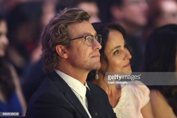 Simon Baker watches during the 7th AACTA Awards Presented by Foxtel | Ceremony at The Star on December 6 2017 in Sydney Australia