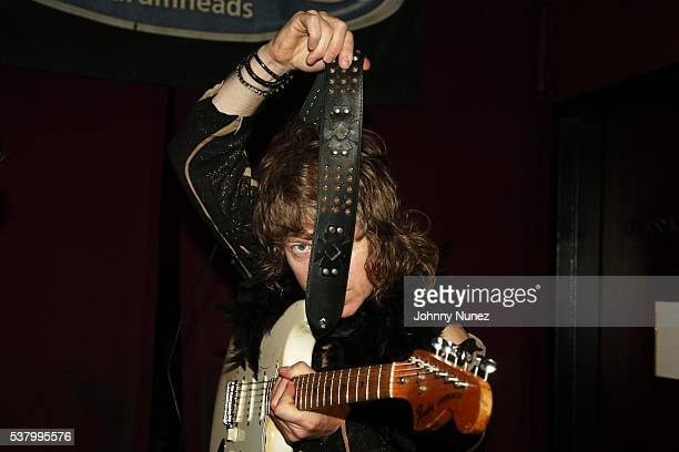 Simon Bartholomew of Brand New Heavies poses backstage at Blue Note Jazz Club on June 3 2016 in New York City