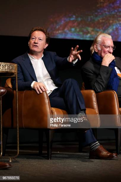 Simon Beaufoy speaks onstage during the For Your Consideration Event for FX's 'Trust' at Saban Media Center on May 11 2018 in North Hollywood...