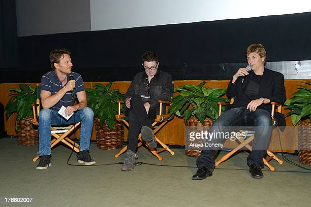 Simon Bell Adrian Powers and Johan Earl attend the Australians In Film screening of Battle Ground on August 15 2013 in Los Angeles California