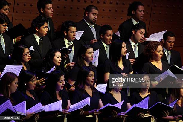 Simon Bolivar National Youth Choir of Venezuela, led by Lourdes Sanchez, performing at Alice Tully Hall on Monday night, September 17, 2012.