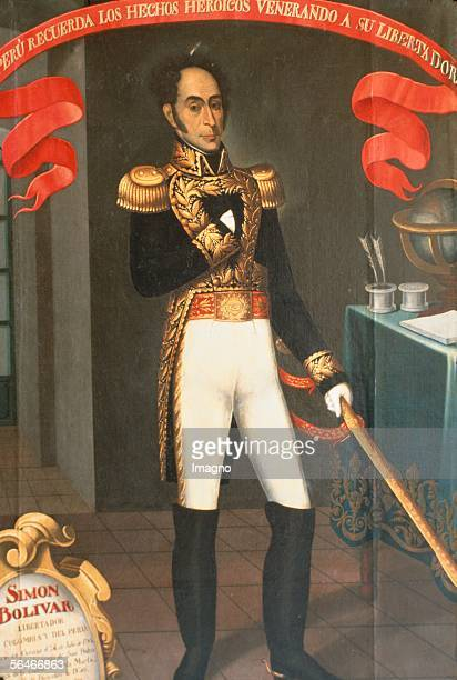 Simon Bolivar , South American revolutionary leader. Painting by Jose Gil de Castro. 19th centtury. [Simon Bolivar , suedamerikanischer...