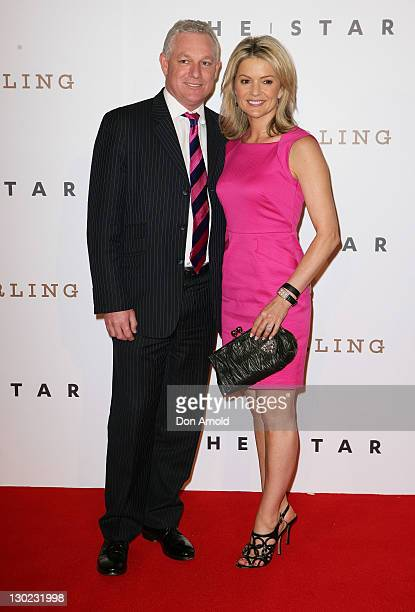 Simon Brewis and Sandra Sully arrive at the The Star Opening Party on October 25 2011 in Sydney Australia